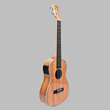 Caramel CB103 30 Inch High Gloss Zebra Wood Baritone Acoustic Electric Ukulele