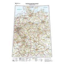 Topografische Deutschlandkarte Landkarte inkl. 8x Wandpieker weiß (K704k)