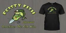 "Feisty Fish Sportswear Brand - ""Sometimes The Fish Wins"" - Funny Fishing T-Shirt"