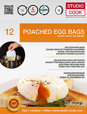 60 (5 x 12) Pack of poachies Egg poaching Cooking bags for perfect Poached Eggs