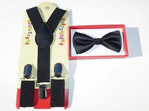 Suspender and Bow Tie Colors Baby Toddler Kids Boys Girls Child SETS USA seller