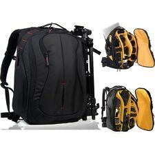Hot Professional DSLR Camera Backpack Camcorder Bag 17'' Laptop Canon Nikon Sony
