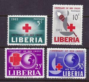 Liberia # 410-11 & C153-54 MNH  Red Cross Centenary