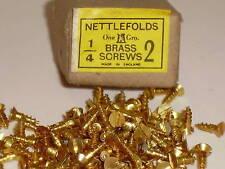 "BOX 144 X NETTLEFOLDS 1/4"" X 2 BRASS COUNTERSUNK SCREWS"