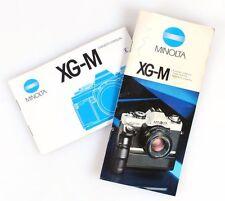 MINOLTA XG-M   MOTOR DRIVE MANUAL, SET OF 2