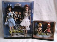 BARBIE SILVER LABEL - THE FLINTSTONES - WILMA & BETTY + PEBBLES & BAM-BAM DOLLS!