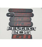 kit complet Custodes 1L6 grise + 3 LOGOS: PEUGEOT + 205 +GTI