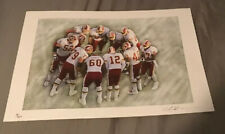 RARE Vintage Signed And Numbered Washington Redskins Team Lithograph - Gorgeous!