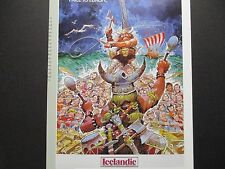Icelandic Airlines  Travel Poster Iceland  From American Express Travel Office