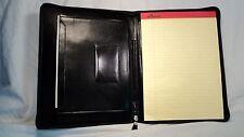 ILI 1911 Black Leather Zippered Letter Sized Writing Pad