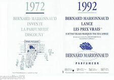 PUBLICITE ADVERTISING 126  1992  Boutiques Bernard Marionnaud (2p)  parfumeur