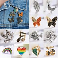 Crystal Butterfly Fish Brooch Pin Badge Corsage Women Costume Jewellery Party