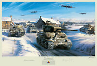 Nicolas Trudgian Counterpunch WWII Battle of the Bulge Bastogne Tank Art Print