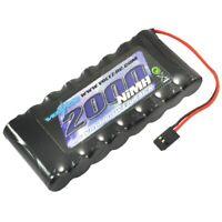 Voltz Tx 9.6 V 2000 mAh NiMH plat Pack Batterie Jr//Spectrum VZ0182