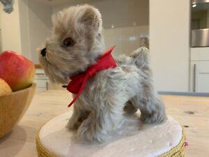 Vintage antique Steiff Tessie terrier,mohair toy Tessie dog,bears chum