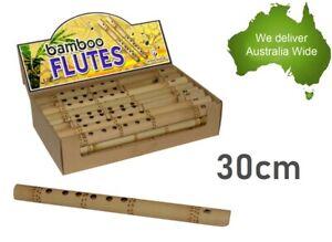 30cm Natural Bamboo Flute Kids Fun Music Toys Birthday Party Favour Santa Sack