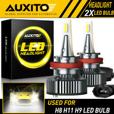 AUXITO H11 H8 H9 LED Headlight Bulb 72W 16000LM Hi/Low Beam 6500K CANBUS Y13 EOA