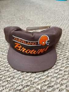 NWT Cleveland Browns Annco Brown Youth Snapback Hat Cap New With Tags