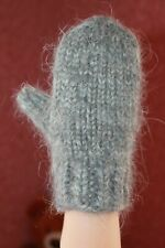 handknitted mittens Kids winter warm thick angora goat down rabbit unisex