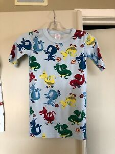 Hanna Andersson blue dragons organic cotton shortie pajama set      150   12 US