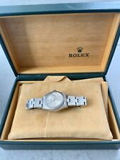 Authentic Rolex Date Stainless Steel Silver Index Dial Ladies 26mm Watch 69160