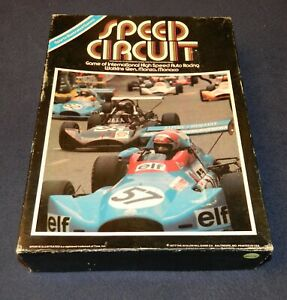 Speed Circuit auto motor racing board game 1977 Avalon Hill Metal cars- complete