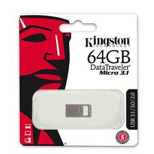 Kingston DataTraveler Micro 3.1 DTMC3/64GB 64GB 64G USB3.1 Flash Drives