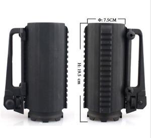 Black Tactical Battle Mug Detachable Carry Military Rail Mug Cup Hunting Kit New