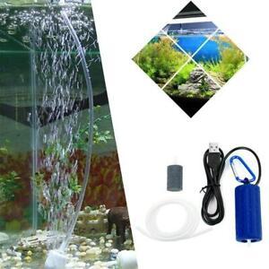 Portable Mini USB Aquarium Fish Tank Oxygen Air Pump Energy 20 Saving Mute V4G4