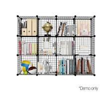 Mesh Wire Portable Stackable Storage Cabinet Organiser Shelving Bookshelf Cubes