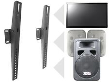 Universal soporte pared para TV PC MONITOR AUDIO ALTAVOCES Inclinable Negro