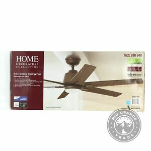 OPEN BOX Generic YG493A-EB Integrated LED Ceiling Fan in Espresso Bronze - 54""