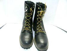 Men's Carolina # 1825   8 inch Steel toe Logger    Color Black  Size 9D