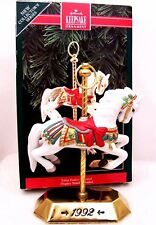 1992 New HALLMARK Christmas Ornament TOBIN FRALEY Carousel Horse QX4891Porcelain