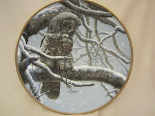 Snowy Watch collector plate Great Grey Owl Seerey-Lester Noble Owls Great Gray