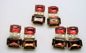wholesale jewelry lot red & brown color & pearl  fashion drop/dangle earrings