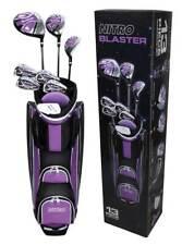 Ladies 13 Piece Purple Golf Club Set Iron Lightweight Cart Bag Flex Complete NEW