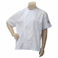 Chef Revival Chef Coat White Poly Cotton Short Sleeve Vented - Large J205-W-Lg