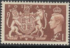 GB GVI  1951 Festival £1 brown sg512 - Mounted mint