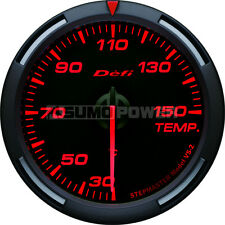 Defi Racer 52mm Car Oil Temperature Gauge - Red - Stepper Motor - DF06705