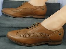 Red Or Dead Ladies Brown Leather Wingtip(?) Shoes Eu40 Uk 7(?)