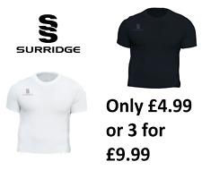 Surridge Compression Skins/Baselayer Black White Football PE Kit Hockey 2020