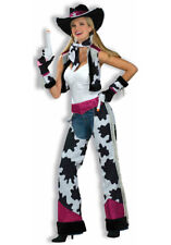 Ladies Sexy Glamour Cowgirl Cowboy Halloween Carnival Fancy Dress Costume Outfit