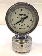 Trerice T515-04 Oil Filled Pressure Gauge, Teflon Diaphragm