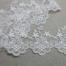 5yds Broderie Anglaise Tulle Eyelet Lace Trim yh1180 wide 8.5cm Ivory laceking