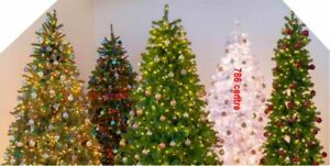 Christmas Best Selection Varity of Christmas Tree Xmas Decorations 1-10ft & More