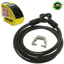 Xena 1.5m Cable and XZZ6 Alarm Motorcycle Disc Lock 120db