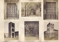 Florence Firenze Roma Italia 12 Foto Ca 1880 Vintage Albumina