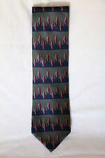 NEW Men's Neck Tie VAN HEUSEN NWT 100% Silk Olive Color Ties Accessories USA Tag