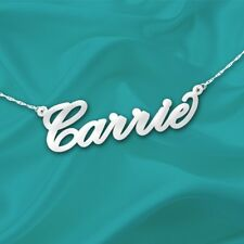 Name Necklace Sterling Silver - Personalized Name Necklace 1/2 Inch Tall Name
